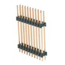 Stiftleiste 2x 10-polig, mit 2 Iso-Körper. gerade