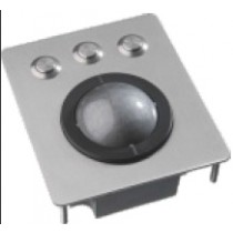 Marine Trackball, blanc stainless steel w.studs, ind. laser 50mm ball, IEC60945 certification