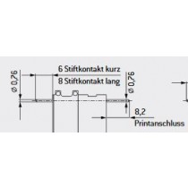 MAC Buchsenkontakt ø 0.76 mm, print