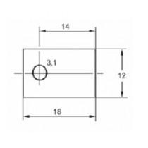Montagescheibe für Transistorgehäuse