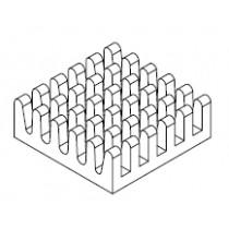 BGA Kühlkörper, 17 x 17 x 6 mm