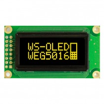 "OLED 50x16 monochrome COB Graphic Display 1.26"" with built in Controller WS0010"