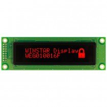 "OLED 100x16 monochrome COB Graphic Display 2.59"" with built in Controller WS0010"