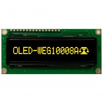 "OLED 100x8 monochrome COB Graphic Display 2.37"" with built in Controller WS0010"