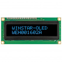 OLED 16x2 COB Character Display 66x16mm with built in Controller WS0010