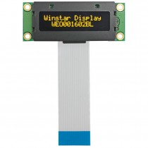 OLED 16x2 COG Character Display 36x10mm with built in Controller WS0012
