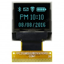"OLED 64x48 monochrome COG Graphic Display 0.66"" with built in Controller SSD1306BZ"