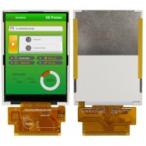 "TFT 2.8"", Panel 500 nit, Resolution 240x320, Trans., Controller ILI9341, MCU Interface"