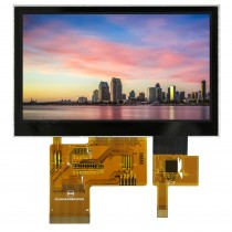 """TFT 4.3"""" Panel only + HB BL + CTS, 640 nits, Transmi, Wide View angle, Resolution 480x272"""