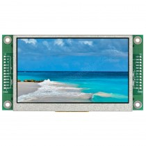 """TFT 4.3"""" Panel + Control Board (RS232), Wide View angle, 400 nits, Transmi, Resolution 4"""