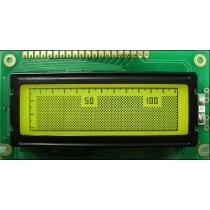 Y-G LED backlight,STN pos.Y-G,wide temp,transflec.