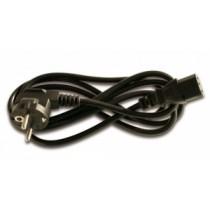 Netzkabel Schuko/IEC-60320-C13 schwarz 1,80m