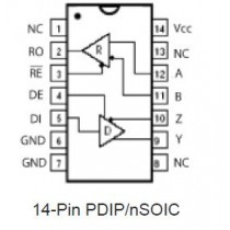 RS485E Transceiver, 3V High Fanout, Low Power Tube