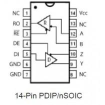 RS485E Transceiver, 3V High Fanout, Low Power TR