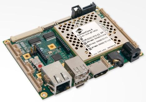 ConnectCore 6 SBC, i.MX6Quad, 1.2 GHz, -20 to 70°C, 4 GB flash, 1 GB DDR3, MCU Assist