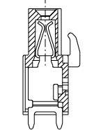 PC-Buchsenleiste, zusammenbaubar, 03 pol. RM 5.08mm
