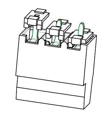 PC-Schraubklemme, gerade, mod., 03 pol., RM 5.08mm