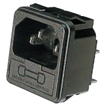 Einb.St.Löt 6.3 x 0.8t mm Snap-In, mit Sicherung