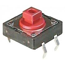 Schalter, Taster, Löt, 12x12 mm Rot, 260g