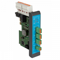 MRcard with 3 analogue inputs, 1 analogue output, 4 digital inputs, 4 digital outputs (relais)