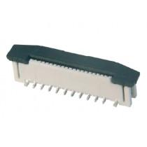 FFC Connector, ZIF, 0.50 mm, 12-polig