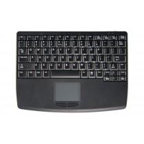 Wireless RF Flat Centric Touchpad Keyboard, USB, Black, German layout