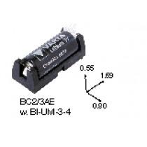 Batteriehalter für CR2/3 oder CR123, low profile