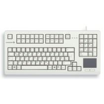 "CHERRY Keyboard mit Touchpad USB 19"" hellgrau CH Layout"