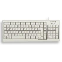 CHERRY Keyboard XS COMPLETE USB+PS/2 NumBlock hellgrau US/€ Layout