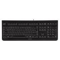 CHERRY Keyboard KC 1000 USB schwarz US/€ Layout