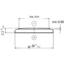 Lithium-Batterie 3V/165mAh, single Blister