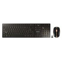CHERRY Keyboard+Mouse DW 9100 SLIM wireless+Bluetooth schwarz-bronce DE Layout