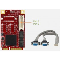 mPCIe to 2x RS232