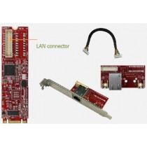 M.2 2280 to single isolated GbE LAN Module, Out: RJ45x1, 0-70°C