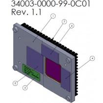 Heatspreader for COMe-mTT10, slim passive thread