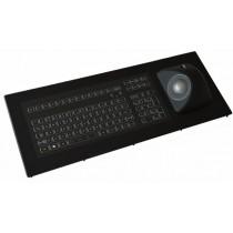 Keyboard with Ergo-Trackball 50mm IP67 panel-mount USB US-Layout
