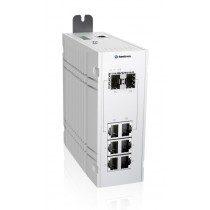 Industrial 12-port managed Ethernet switch-40 °C to 75 °C of operating temp., dual DC power input