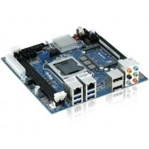KTH81/mITX, 2x USB 3.0, 4x USB 2.0, 1x 6Gb/s SATA+ 2x 3Gb/s SATA, 2x GBLAN , 2x Display Ports