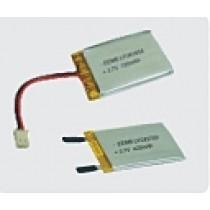 Lithium-Polymer Battery 3.7V 1100mAh VA Protection, Cables
