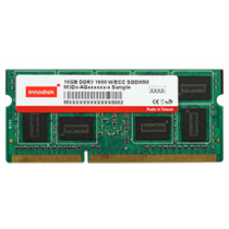 DDR3 4GB 1600 ECC SODIMM, 204pin 0~+85C