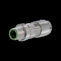 Metz Connect Stecker M12, 4-polig