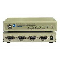 3onedata Interface Converter,1xUSB 2.0 TypeA to 4x RS232,-20+60C,Input 5VDC
