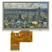 """TFT 4.3"""" Panel only+HB BL+RTS, 560 nits, Transmi, Wide View angle Resolution, 480x272"""